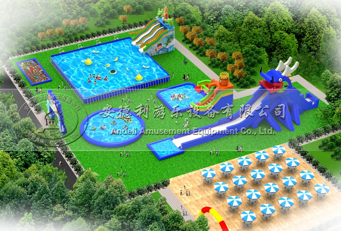 移动水上乐园效果图